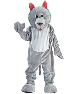 Hungry Wolf Mascot Adult Costume 3063323