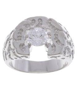 Simon Frank Men's Solita Diamond Simulant CZ Ring