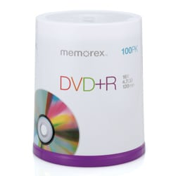 Memorex 16x 4.7GB DVD+R Media (Pack of 100)