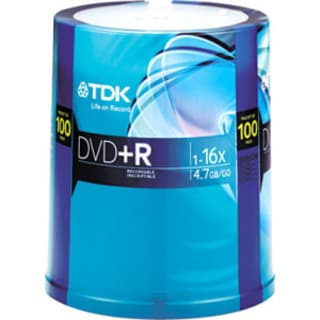 Imation DVD Recordable Media - DVD+R - 16x - 4.70 GB - 100 Pack Spind