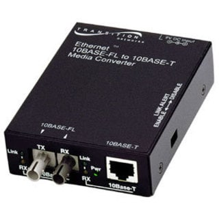 Transition Networks E-TBT-FRL-05 10BASE-T to 10BASE-FL Ethernet Media
