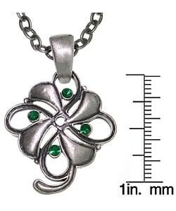 CGC Four Leaf Clover Pewter Unisex Necklace