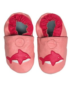 Papush Pink Whale Baby Infant Shoes