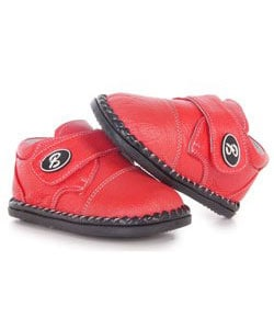 Papush Red Leather Casual Walking Infant Shoes