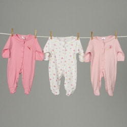 Sleep 'N' Play Rompers Infant Girls Sleepwear (Pack of 6)