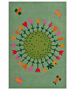 Hand-tufted Flower Kids' Rug (4' x 6')