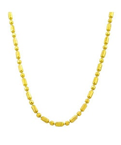 Fremada 14k Yellow Gold Alternating Bead Necklace