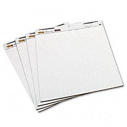 3M Post-it Self-Stick Plain White Easel Pads (4 Pads/Carton)