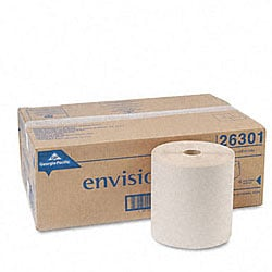 Georgia-Pacific Envision 1-Ply Nonperforated Paper Towel Rolls - 6 Rolls/Ct