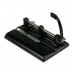 40-Sheet High-Capacity Lever Action Adjustable 2/3-Hole Punch