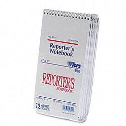 Reporter's Spiral Gregg Ruled Notebook