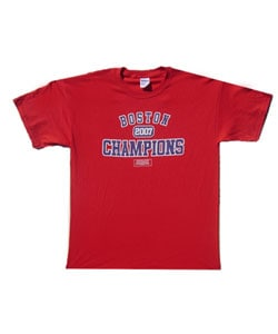 Boston 2007 Champs Red Distressed T-shirt