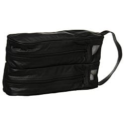 Amerileather Black Leather Golf Shoe Bag