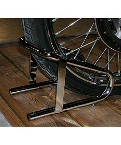 Chrome Quick Release Wheel Chock for Positioning Motorcycles