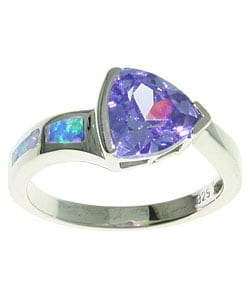 CGC Sterling Silver Purple Cubic Zirconia Ring