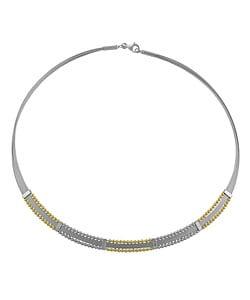 Fremada 14k White Cleo Necklace with Two-tone Beads