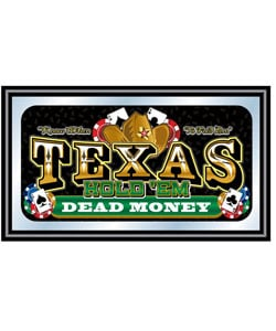 Texas Hold 'Em Large Wall Mirror