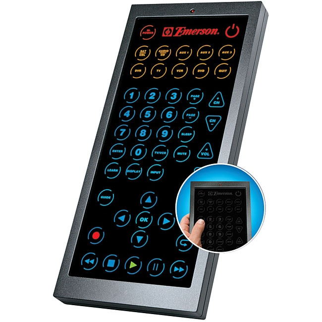 remote, so you can use the emerson remote to teach the universal