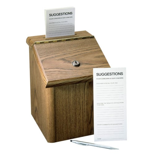 Suggestion Box, Now With 100% Less Ink Smearing!