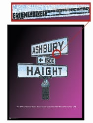 "Haight & Ashbury Hippie LSD ""Street Terms"" Poster"