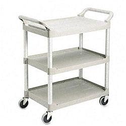 Rubbermaid Three-Shelf Plastic Utility Cart