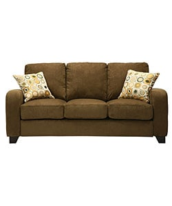 Fendor Modern Dark Moss Microfiber Twill Sofa