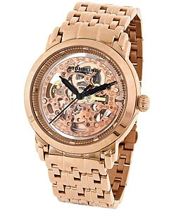 Stuhrling 'Winchester Elite' Rose Goldtone Watch