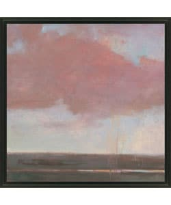 Kim Coulter 'Scarlet Sky II' Framed Canvas Art