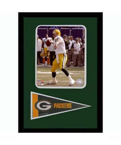 Brett Favre Photo with Mini Pennant Frame