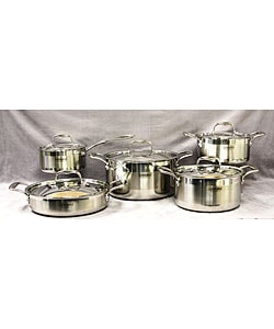 Concord 10-piece Tri-ply Stainless Steel Cookware Set