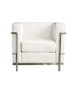 Mason White Leather Chair