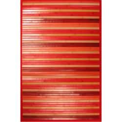 Red Bamboo Runner Rug (2' x 7')
