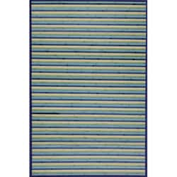 Blue Bamboo Area Rug (8' x 10')
