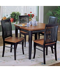 Newport 5-piece Black Dining Set