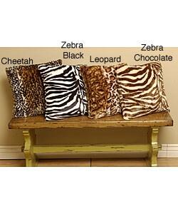 Animal Print Faux-Fur Throw Pillows (Set of 2)
