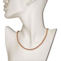 Pink Freshwater Pearl Necklace (4-5 mm)
