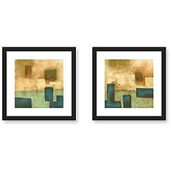 DeRosier 'Pure and Simple' Framed Art Print Set
