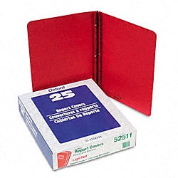 Red Leatherette Front Report Covers (Pack of 25)