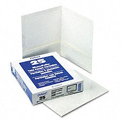 White Laminated 100-Sheet Two-Pocket Portfolios (Pack of 25)