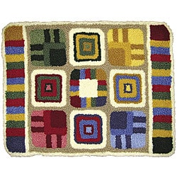 M.C.G. Textiles Patchwork Punch Needle Rug Kit