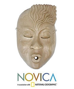 'The Whistler' Wood Mask (Indonesia)
