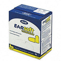 EARsoft Yellow Neons Soft Foam Earplugs
