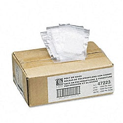 Clear/White Reclosable Small Parts Bags with Write-On Panel (1,000 per Box)
