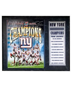 New York Giants World Champs Plaque