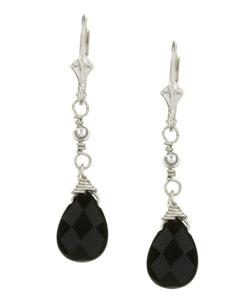 Lola's Jewelry Sterling Silver Black Onyx Briolette Earrings 3588004