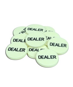 Dealer Buttons for Texas Hold 'Em (Lot of 10)
