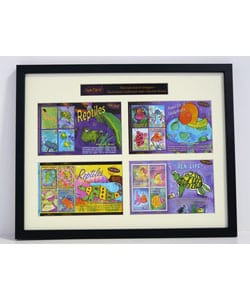 Kids Did It! Reptiles Framed Stamp Collection