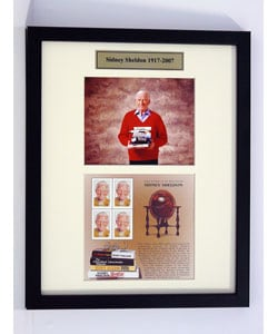 Sidney Sheldon Framed Stamp Collection