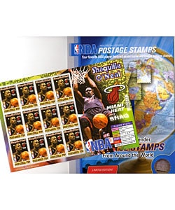 Shaquille O'Neal Stamp Sheet and Folio Set