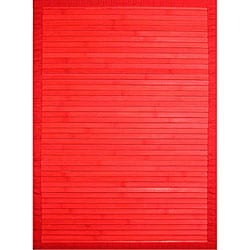 Handmade Red Bamboo Runner (2' x 7')